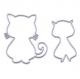 Lot de 2 die de découpe métallique chat chaton vintage retro idéal pour carte album page carte scrap noel anniversaire cadeau