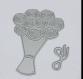 Die de découpe métallique bouquet de roses mariage vintage retro idéal pour carte album page carte scrap noel anniversaire cadeau