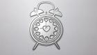 Die de découpe métallique reveille horloge coeur vintage retro idéal pour carte album page carte scrap noel anniversaire cadeau
