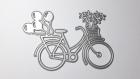 Die de découpe métallique forme vélo ballon coeur vintage retro idéal pour carte album page carte scrap noel anniversaire cadeau