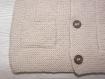 Gilet sans manche bébé 6 mois couleur lin tricoté main - cadeau naissance