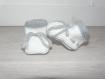 Chaussons bébé nadine 0-3 mois laine - tricotés main - cadeau naissance