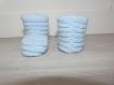 Chaussons bébé bleu horizon 0-1 mois