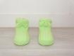 Chaussons bébé 0-6 mois - vert anis - tricotés main - cadeau naissance