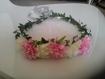 Couronne de fleurs bohème chic mariage baptême cérémonie  a133