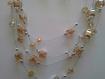 Parure   perles de verre sur fil métallique  a527
