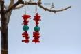 Boucles d'oreille - corail et turquoise - collection ethnique
