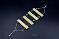 Bracelet - os, turquoise et corail - collection ethnique