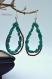 boucles d'oreilles - ovale pointue - turquoise et corail