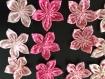 15 fleurs kanzashi ,yoyo,fleur en tissu ,faite main,fleur,pour customiser vos créations,embellissement sac ,barrette,broche,bijoux, scrapbooking