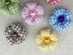 7 fleurs kanzashi en tissu ,fleur en tissu ,fait main,fleur,pour customiser vos créations,embellissement sac ,barrette,broche,bijoux ,scrapbooking