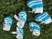 Lot de 23 contenant a dragée,chausson en laine  ,sachet de dragée,boite a dragée ,baptême,naissance,
