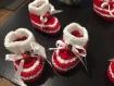 Lot de 10 contenant a dragée,chausson en laine  ,sachet de dragée,boite a dragée ,baptême,naissance,coccinelle