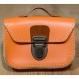 Mini-cartable en cuir orange