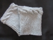 Boot cuffs, guetres,chaussettes grises perles fantaisies