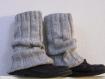 Jambieres, guetres, chaussetes grises classiques et tendances