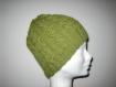 Bonnet rond fantaisie vert en alapga
