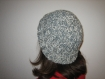 Bonnet mixte chine ecru et gris long ou court