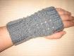 Mitaine, gant, main, grise fantaisie