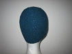 Bonnet rond bleu en alapga