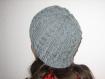 Bonnet mixte gris et fantaisie