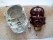 Moule silicone masque de soldat massai gm pour fimo wepam fait main