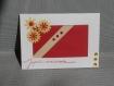 Carte d'anniversaire aux fleurs rouges et jaunes