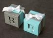 Sur commande boites de dragées personnalisées cubes