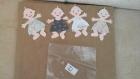 Lot de quatre bébés scrapbooking