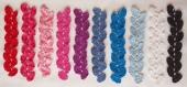 Marque page violet au crochet