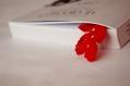 Marque page rouge au crochet