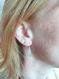 Boucles d'oreilles tribales ethniques argent massif texturé,géométrique,moderne,minimaliste,martelé,design,contemporain,graphique,patiné
