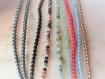 Grandes créoles argent,boucles ethniques brodées,massif 925,perle,granule,spirale,pierres fines,anneau,originale,touareg,bohème,boho,bobo