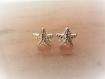 Boucles d'oreilles argent massif 925 puces petites étoiles de mer-mini-discret-ciel-magie-clous d'oreilles-granules-plage-été-