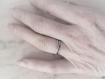 Bague argent femme rustique,925 massif oxydé,patiné,écorce,entrelac,rond,irrégulier,brut,rustique,simple,minimaliste,ethnique,alliance
