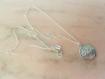 Collier médaille arbre de vie gravé+ chaine argent massif 925 - nature-végétal-foret-indémodable-arabesque-cadeau-spirale-porte bonheur-