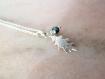 Petit collier feuille fin argent,pampille pierre naturelle,massif 925,nature,breloque,grigri,collier discret,femme,fantaisie,arbre,végétal