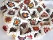 Couverture bébé granny crochet en laine . couleurs d'automne