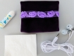 Mini pochettes velours violet avec dentelle fleuri