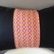 Housse de coussin 50x30 cm; coton noir et motifs géométriques