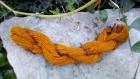 Echeveau de laine de mouton de normandie filé au rouet