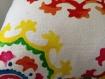 Housse de coussin boheme / ethnique multicolore 40*40 cm