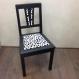Chaise vintage design dalmatien noire & blanche