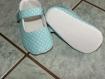 Ballerines pour petites filles à petits pois blanc et turquoise très clair 6/12mois