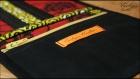 Porte feuille en wax et coton noir