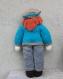 Poupée garçon - en laine - hauteur 40 cm - vêtements et accessoire en laine - tricotés main - cadeau enfant fille - jouet poupée de collection