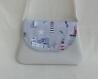 Sac à bandoulière - mini sac pochette / besace / fourre tout - tissu marin - vacance - bord de mer - accessoire mode Été - cadeau fille femme