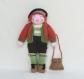 Poupée laine bavaroise - hauteur 40 cm - vêtements et accessoire - cadeau anniversaire enfant fille - poupée de collection - jouet tricoté main