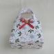 Petit sac à main pour petite fille de 2 ans à 3 ans, tissu coton houx et sucre d'orge, panier à anses, cadeau noël enfant ou bébé