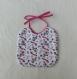 Bavoir pour les repas - bébé fille - taille naissance à 12 mois - serviette de table - tissu oeko tex motifs animaux et tissu éponge bambou - idée cadeau de naissance